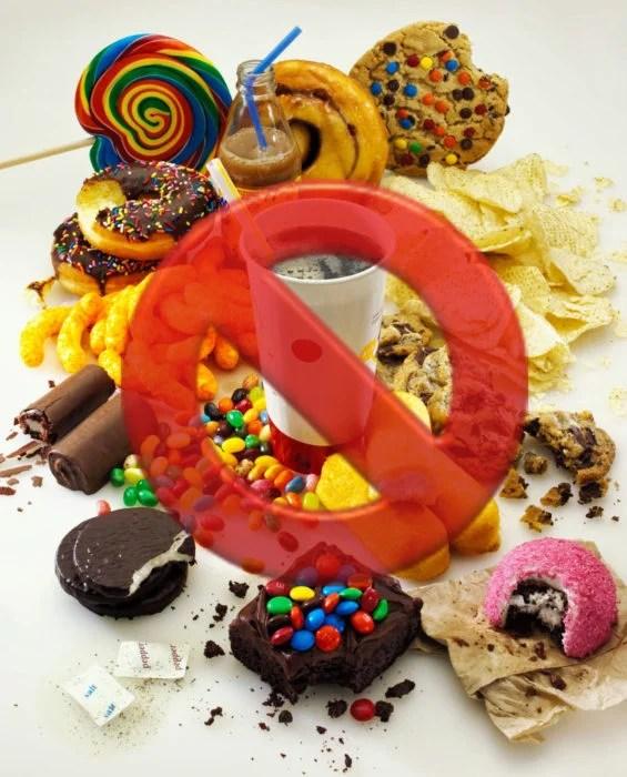 azucares refinadas prohibidas