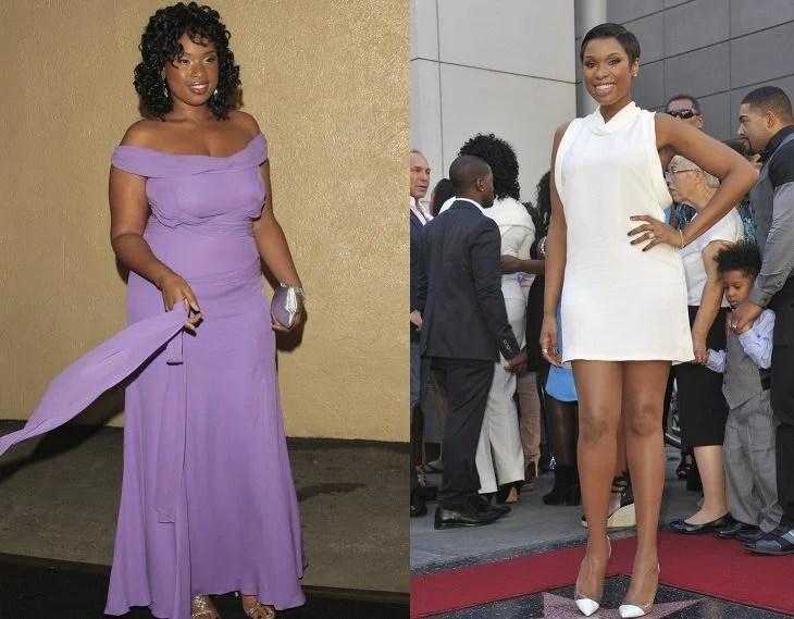 Jennifer Hudson antes y después de perder peso