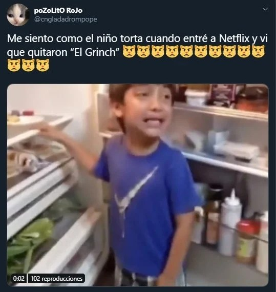 Tuit sobre El Grinch ha sido retirado de Netflix