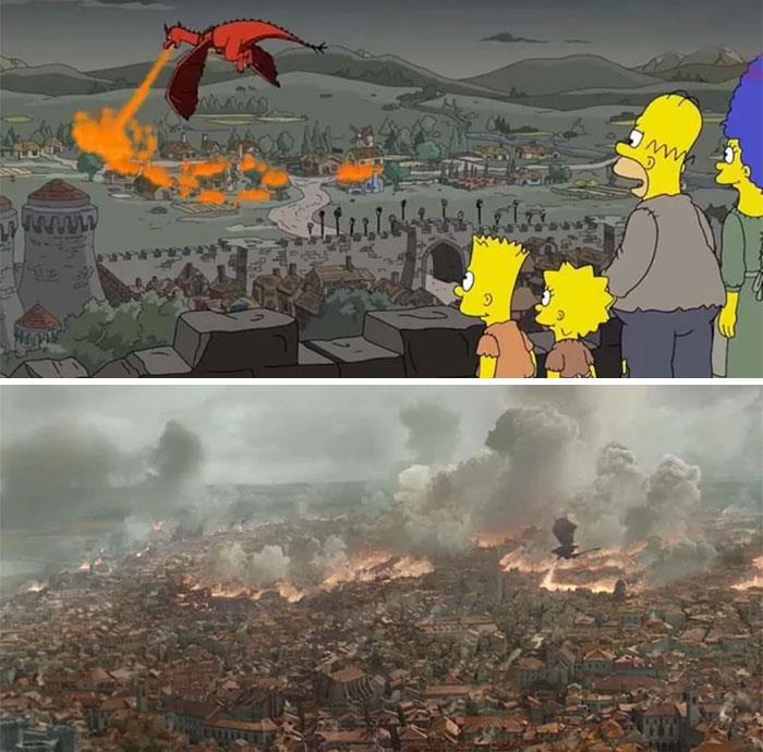 Los Simpson y el cambio que tuvo Daenerys Targeryen