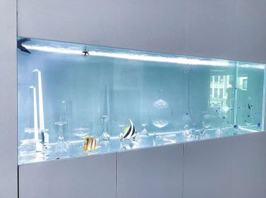 Baccarat and Lobmyr Crystal Aquascaped Aquarium