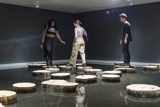 museum pond installation New York