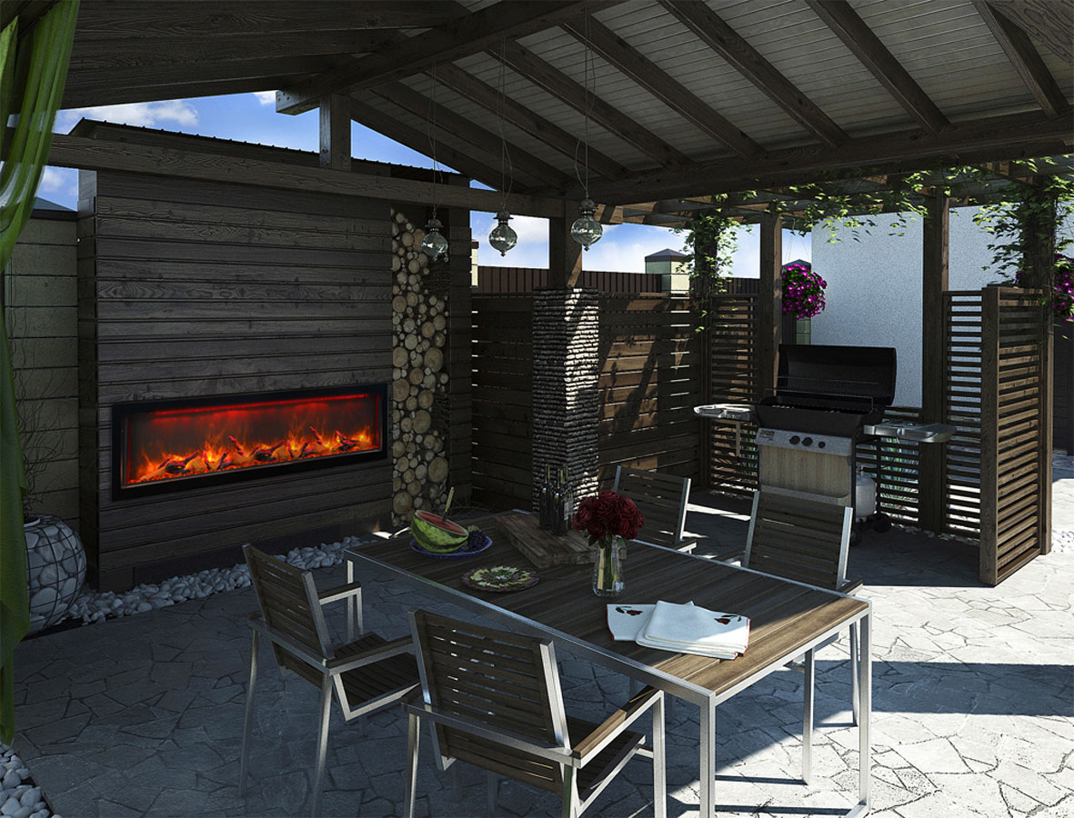 Outdoor Electric Fireplaces Okell S Fireplace San