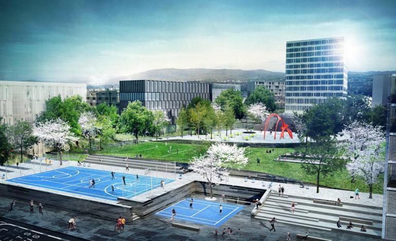 Underskriftskampanje for svømmehall i Løren Aktivitetspark
