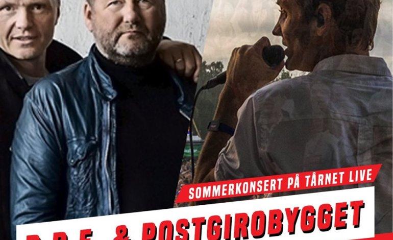 D.D.E & Postgirobygget, utekonsert & sommerfest på Tårnet Live