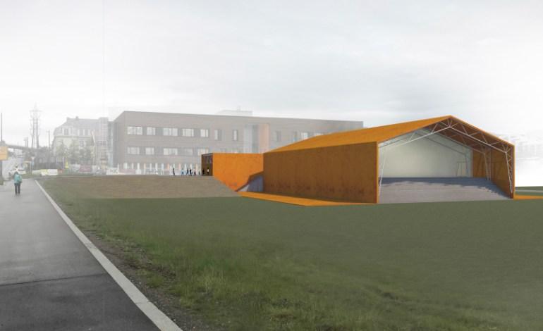 Midlertidig svømmehall på Økern fra sommeren 2020