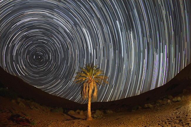Gwiazdy nad Erg Chebbi 02