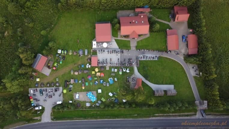 Bieszczadzka Przystań Motocyklowa z lotu drona