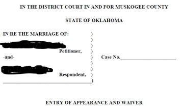 uncontested divorce appearance waiver