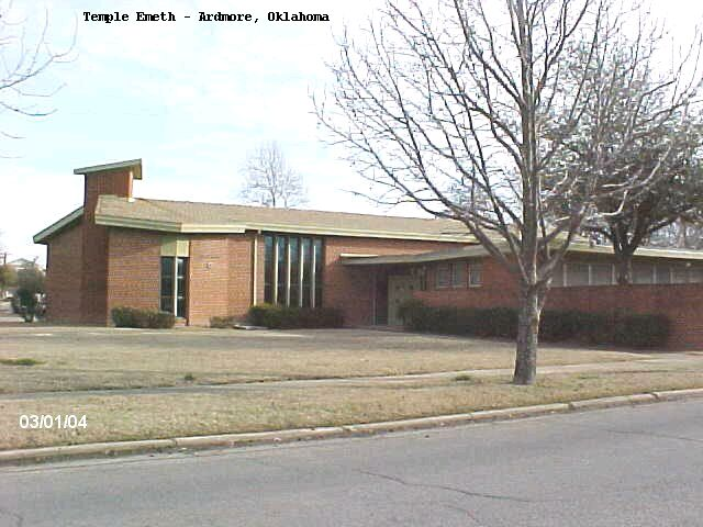 Temple Emeth Jewish Synagogue Ardmore Oklahoma