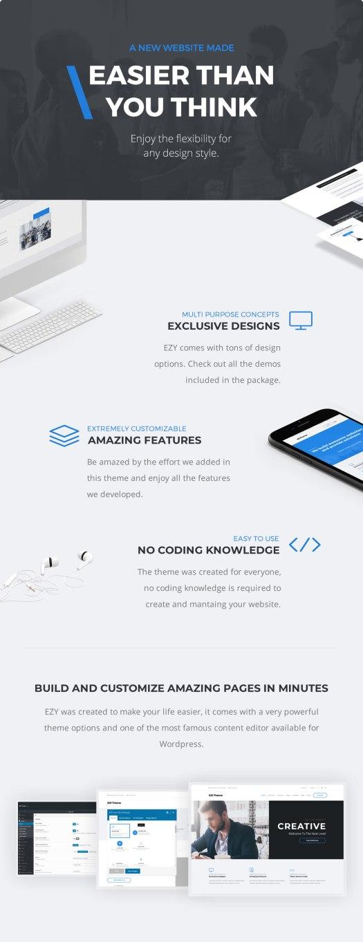 EZY - Responsive Multi-Purpose WordPress Theme - 2