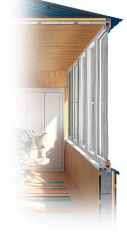 Теплое остекление балконов пластиковыми окнами