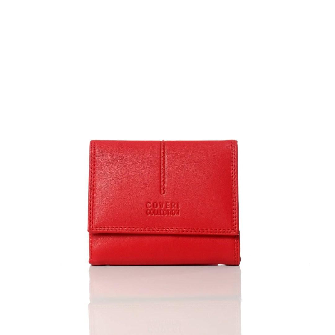 Art. 7789 Portafogli rosso coveri donna di pelle