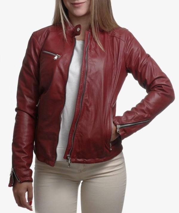 giacca in pelle biker