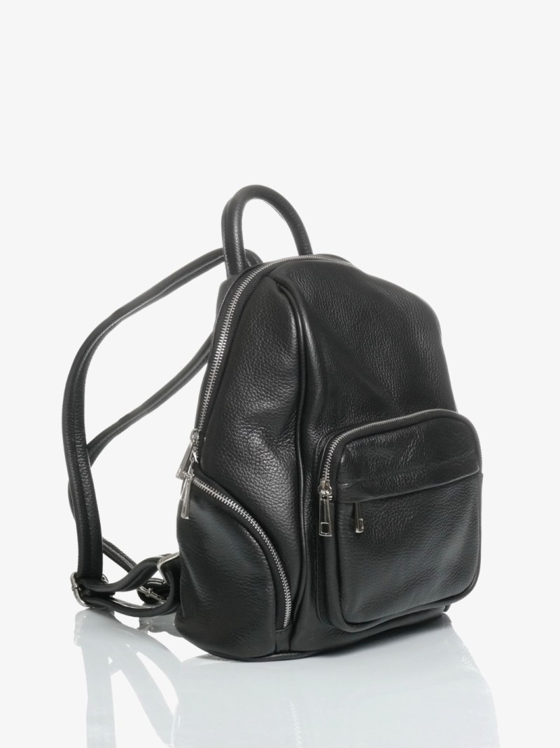 zaino city bag in pelle nero
