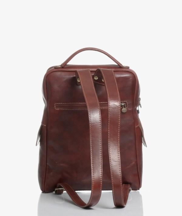 zaino laptop marrone castagna