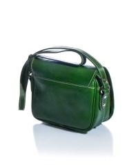 borsetta a tracolla verde in vero cuoio