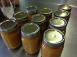 720x540 Finished product: peach jam, in Canning corn and peaches at Lowndes High School, by Gretchen Quarterman, for OkraParadiseFarms.com, 12 July 2014