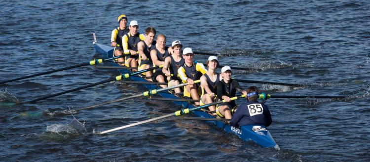 TYRA Mens Youth Eight Racing in Boston at the Head of the Charles.