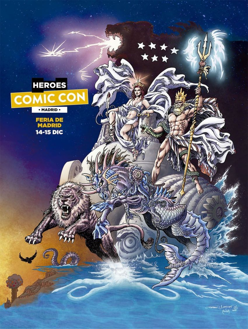 Cartel Heroes Comic Con Madrid 2019 Esteban Maroto Adi Crossa