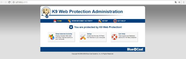 k9 web protection kurulumu