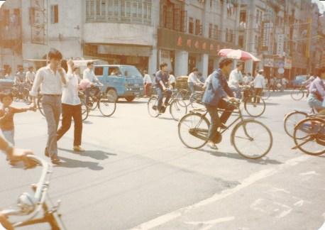 Une rue de Canton en 1986