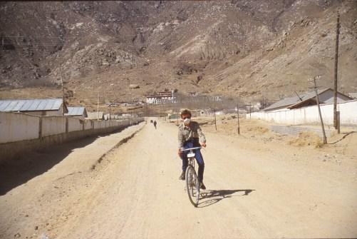 A vélo dans les environs de Lhassa