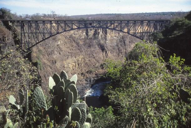 Victoria Falls Pont vers la Zambie