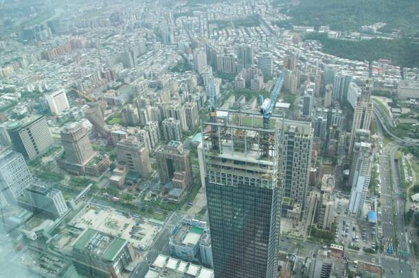Vue depuis la tour Taipei 101