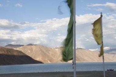 drapeau à pangong lake