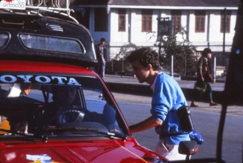 Négociation d'un taxi vers le lac Inley