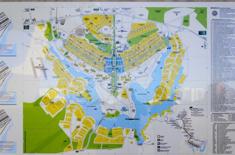 Le plan de Brasilia, en forme d'oiseau