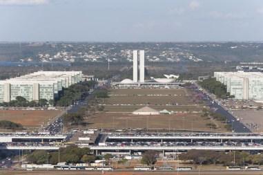 L'esplanade des ministères, vue depuis la tour de la TV