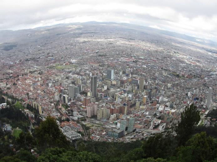 Vue de Bogota depuis Monserrate