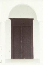 Porte en bois d'Anjouan