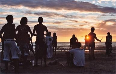 Capoeira sur la plage