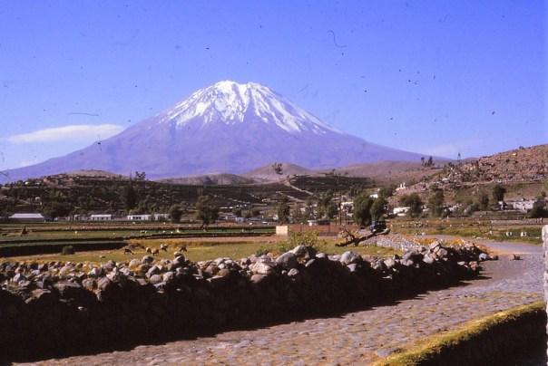 Volcan el mitsi prés d'Areqipa