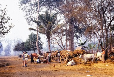 en Birmanie (zone rebelle), juste après la frontière
