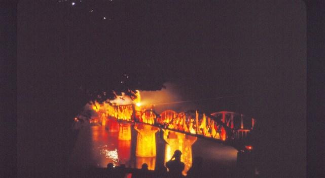 son et lumière sur le pont
