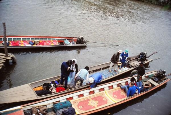embarcadaire de Tha Ton (rivière Fang)