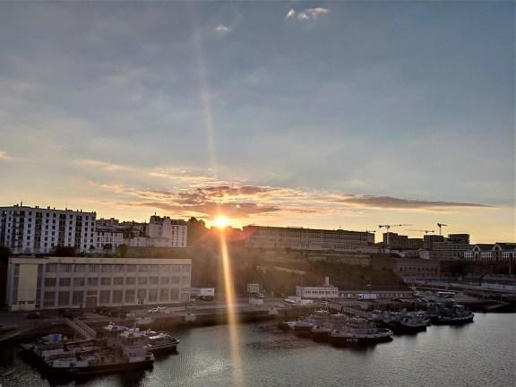 Brest, Penfeld, sunset