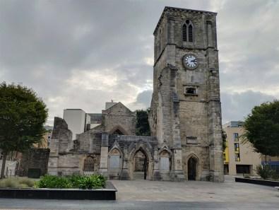 Southampton: les restes de l'église