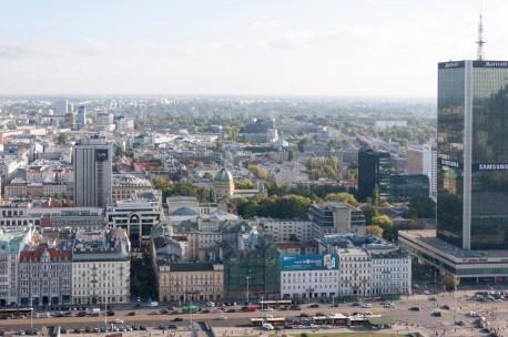 Varsovie vue depuis le somment du Palais de la culture