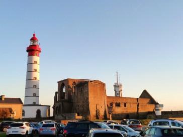 Pointe St Mathieu, coucher de soleil