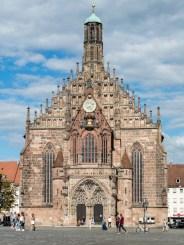 Nuremberg: église Notre Dame (XVéme siècle)