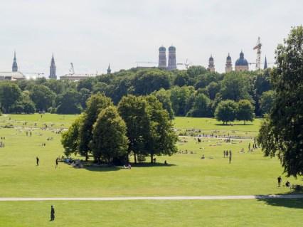 Munich: le jardin anglais en plein centre ville