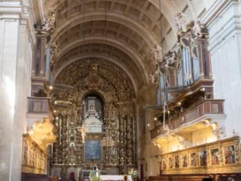 Coimbra: intérieur de la nouvelle cathédrale (Nova Se)