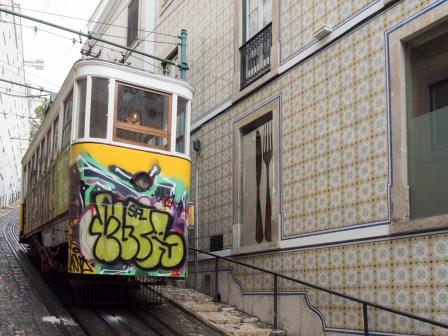 Lisbonne: bairro alto (Ascenseur do Lavra)