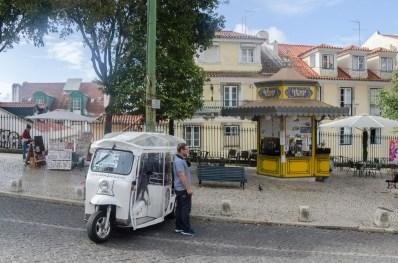 Lisbonne: tuk-tuk
