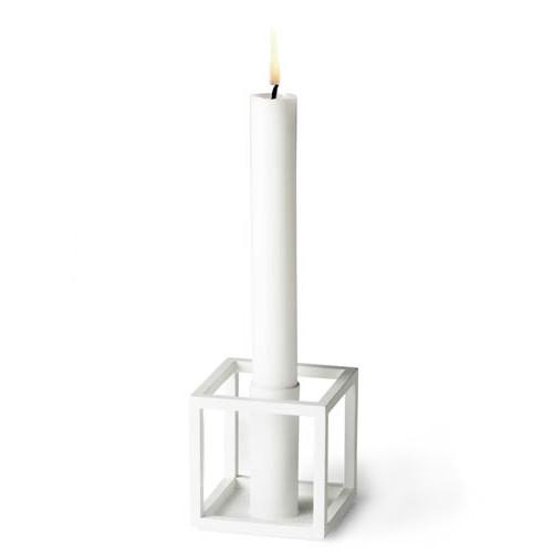 Kubus Lysestage - Hvid - 1 Lys